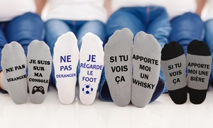 Chaussettes message Humour