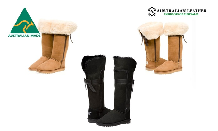 fbc6cbff0f5 Up To 57% Off Long UGG Boots with Back Bow | Groupon