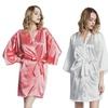 Women's Short Satin Kimono Robe