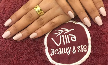 Classic, French or Gel Mani Pedi with Optional Foot Spa Treatment at Villa Beauty & Spa (Up to 73% Off)
