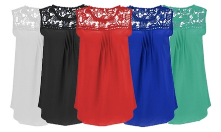 Women's Sleeveless Blouse: One $19 or Two $29 Don't Pay up to $119.90
