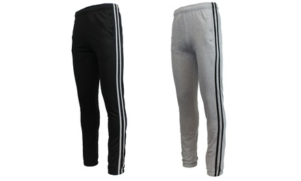 Men's French Terry Striped Joggers