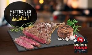 Poivre Rouge: Pour 1€, une grillade* de bœuf offerte pour une grillade de bœuf achetée chez Poivre Rouge