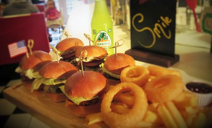 image for Burger Slider Platter with Drinks for Two or Four at Waffle Jacks (Up to 36% Off)