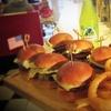 Burger Slider Platter with Drinks