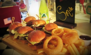 Waffle Jacks: Burger Slider Platter with Drinks for Two or Four at Waffle Jacks (Up to 36% Off)