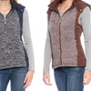Women's Melange Quilted Cotton Vest with Detachable Hood