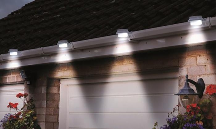 Luci LED solari da grondaia