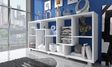 Estantería Shelf Deluxe con baldas asimétricas blanca, negra o roble por 89,90 €
