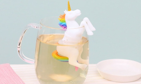 1, 2 o 4 infusores de té en forma de unicornio