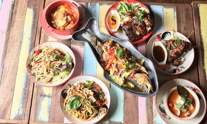 Spice Thai Restaurant - Liverpool: Two-Course Thai Lunch for One, Two or Four at Spice Thai Restaurant