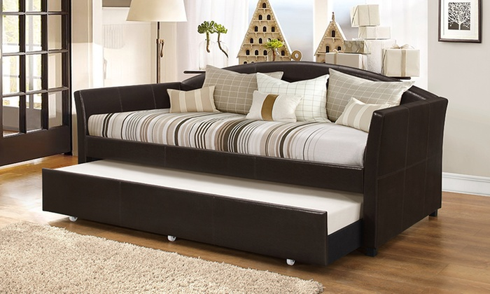 London Arched Sofa Trundle Bed Groupon Goods