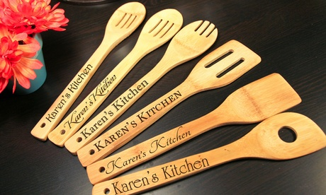 Sets of Six Custom Engraved Kitchen Utensils (Up to 38% Off) 0732a89c-4007-4bf9-84b2-6b657d7a1f04