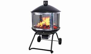 "Gordon's Ace Hardware: 28"" Wheeled Fire Pit or 35"" Round Fire Pit with In-Store Pickup at Gordon's Ace Hardware (Up to 65% Off)"
