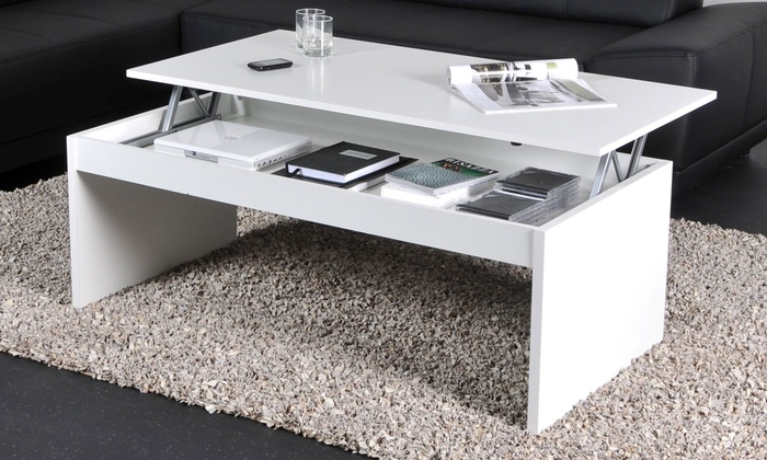 Table basse plateau escamotable groupon shopping for Groupon table basse