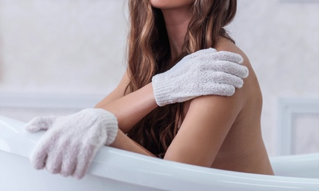 1 o 2 pares de guantes exfoliantes para el cuerpo