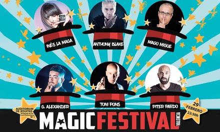 Entrada de platea para 1 persona al Magic Festival en Valencia (37% de descuento)