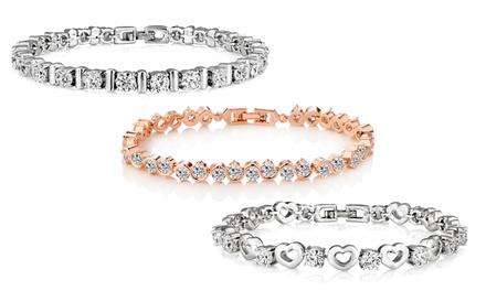 Déstockage de bracelets de la marque Philip Jones ornés de cristaux Swarovski® à 12,90€