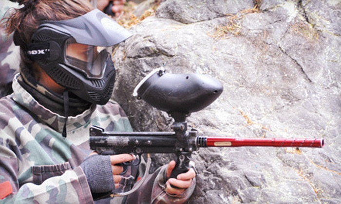 Victoria Paintball Adventures - Victoria: Paintball Adventure with Gear Rental and Paintballs for 1, 2, or 4 People (Up to 55% Off)