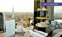Sky High Champagne Afternoon Tea for Two with Panoramic Views of London at Vertigo42 (50% Off)