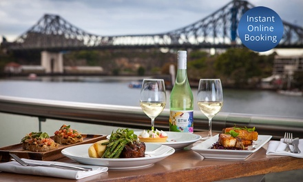 TwoCourse Meal with Wine for Two $75, Four $145 or Eight People $285 at Friday's Riverside Up to $450 Value