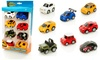 Set of Eight Die-Cast Pull Back Cars
