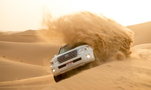 Emirates Adventures Tours and Safari: Half-Day Desert Safari with Dune Bashing, BBQ, Belly Dancer from Emirates Adventures Tours and Safari (Up to 51% Off)