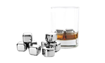 From $15 for a Four-Piece Stainless Steel Whiskey Stone Ice Cube Set