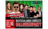 Deutschlands größte Halloweenparty u. a. mit Martin Solveig & Juicy M am 31.10. in der Lanxess Arena Köln (30 % sparen)
