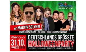 Deutschlands größte Halloweenparty: Deutschlands größte Halloweenparty u. a. mit Martin Solveig & Juicy M am 31.10. in der Lanxess Arena Köln (30 % sparen)