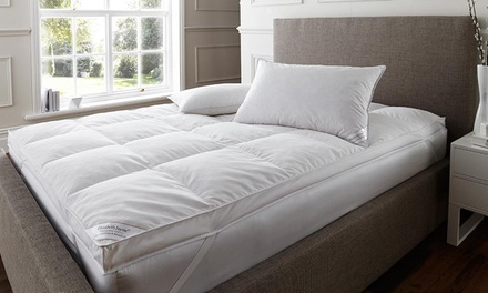 Mattress Topper and Goose Feather or Down Pillows