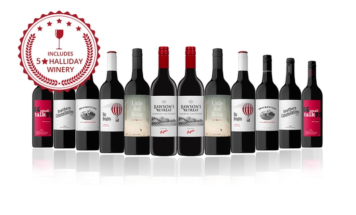 $59 for a 12-Bottle Mixed Case of Australian Red Wine Including Penfolds (Don't Pay $189)