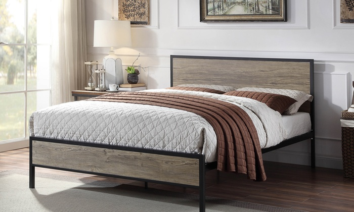 Salisbury Rustic Wooden Bedframe with Optional Mattress from £185 (58% OFF)
