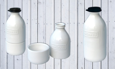 Retro-Inspired Milk Bottle or Cream and Sugar Set from $7.99—$12.99. Free Returns.