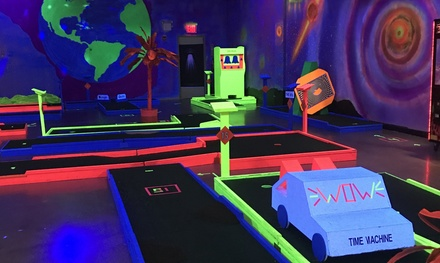 Three Rounds of Indoor Glow Golf for One, Two, Four, or Six at Planet X Mini Glow Golf (Up to 50% Off)