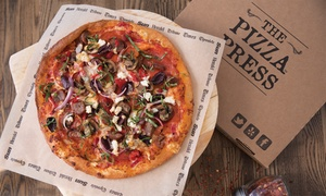 The Pizza Press: Pizza Meal with Craft Beer on Tap for Two or Four (Up to 37% Off)