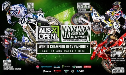 Monster Energy AUSX Open: Tickets , Qudos Bank Arena, 10 November 2018