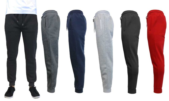 Galaxy By Harvic Men's Slim Fit Fleece Jogger Pants