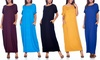 Isaac Liev Women's Maxi Dress with Pockets. Plus Sizes Available.