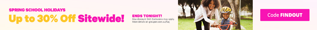 Use code FINDOUT and enjoy up to an extra 30% off Sitewide. Ends tonight. Some deals excluded.