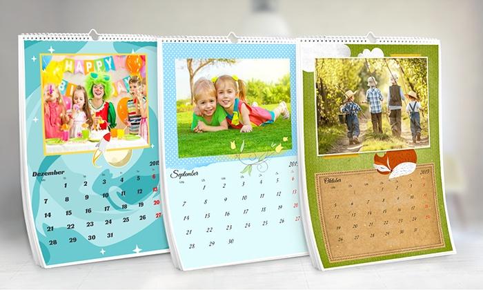 eColorland: Personalisierbarer Fotokalender im Format A3 von eColorland (bis zu 85% sparen*)