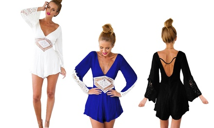 One (AED 79) or Three (AED 179) Lace Detail Jumpsuits