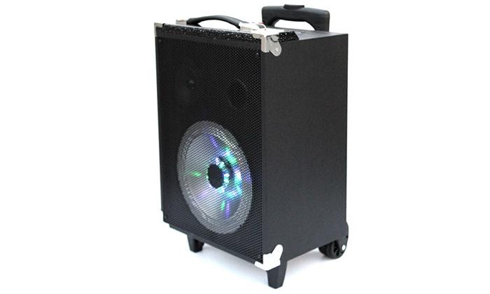 """אל - כל סחר אלקטרוני בע""""מ - Merchandising (IL): בידורית """"8 הכוללת bluetooth, וופר עם מסך תצוגה, תאורת דיסקו, מיקרופון אלחוטי ושלט"""