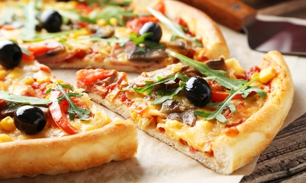 Menu pizza con antipasto e bibita