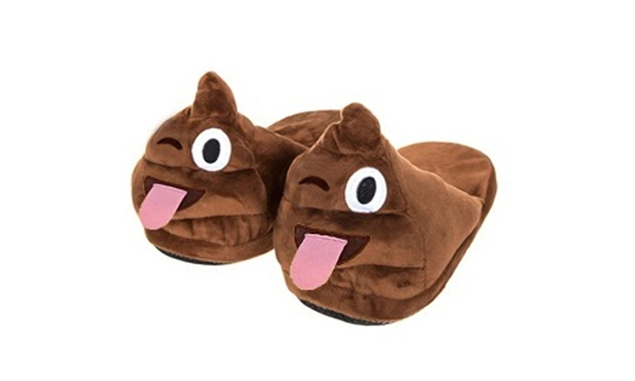 441e15fc5234 Men s Emoji Poop Slippers