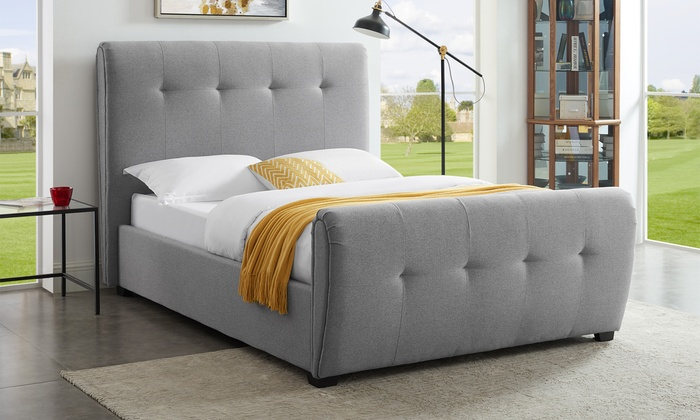 Miami Fabric Bed Frame in Choice of Colour and Size