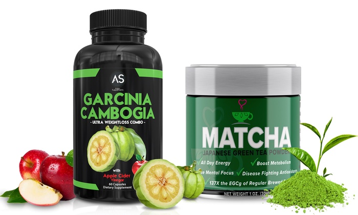Garcinia Cambogia Weight Loss Tablets 120 Count And Green Tea Powder Groupon