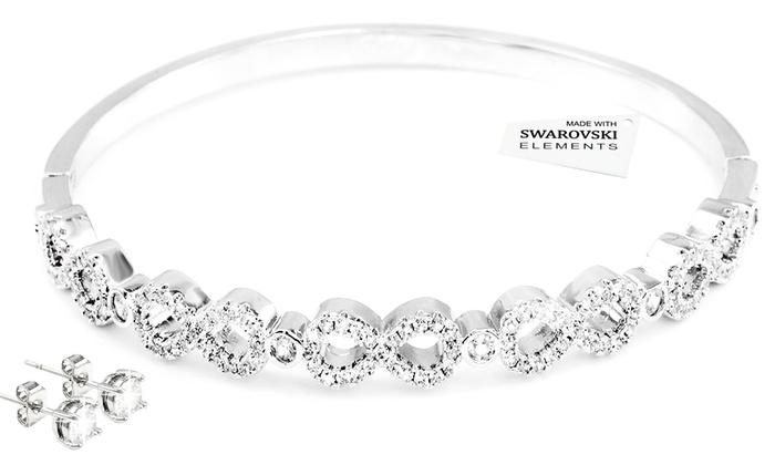 17674fd23841 Hasta 82% dto. Brazalete y pendientes con cristales Swarovski®