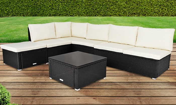 groupon goods global gmbh poly rattan corner sofa set for 39998 with free