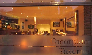 Omorphia Taverna: Greek Meal With Bread, Olives and Wine at Omorphia Taverna